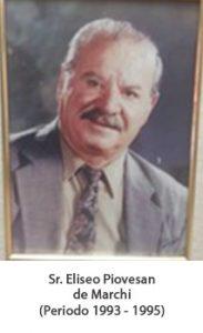 Sr. Eliseo piovesan de marchi. Periodo 1993 — 1995
