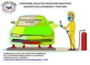 Se solicita instructor para Cursos de Latonería y Pintura.