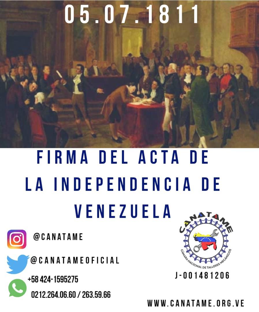 En este momento estás viendo DÍA DE LA INDEPENDENCIA DE VENZUELA 05 DE JULIO DE 1811