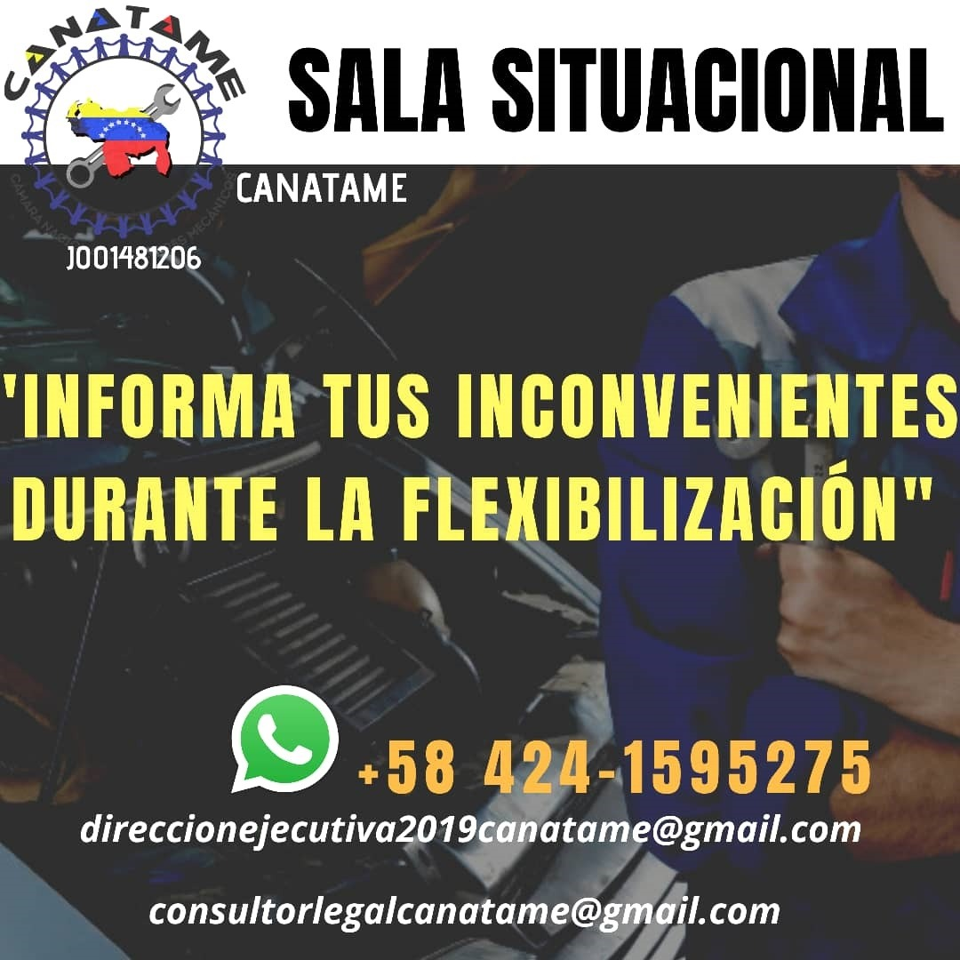 SALA SITUACIONAL CANATAME (UNICAMENTE MIEMBROS AFILIADOS)