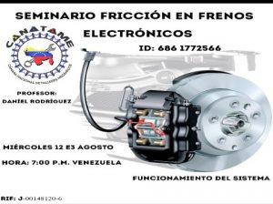 Lee más sobre el artículo SEMINARIO FRICCIÓN EN FRENOS ELECTRÓNICOS