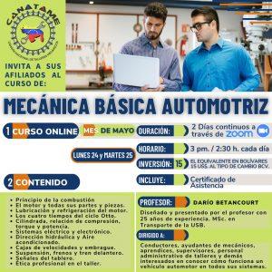 Lee más sobre el artículo MECÁNICA BÁSICA AUTOMOTRIZ (ON LINE)
