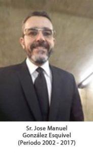 Sr. Jose manuel González Esquivel. Periodo 2002 — 2017