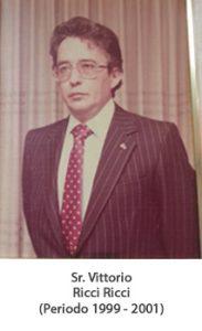 Sr. Vittorio ricci ricci. Periodo 1999 — 2001