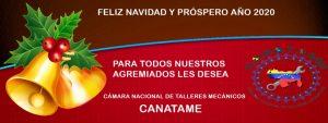 Mensaje Navideño de parte del Consejo Directivo Nacional de CANATAME