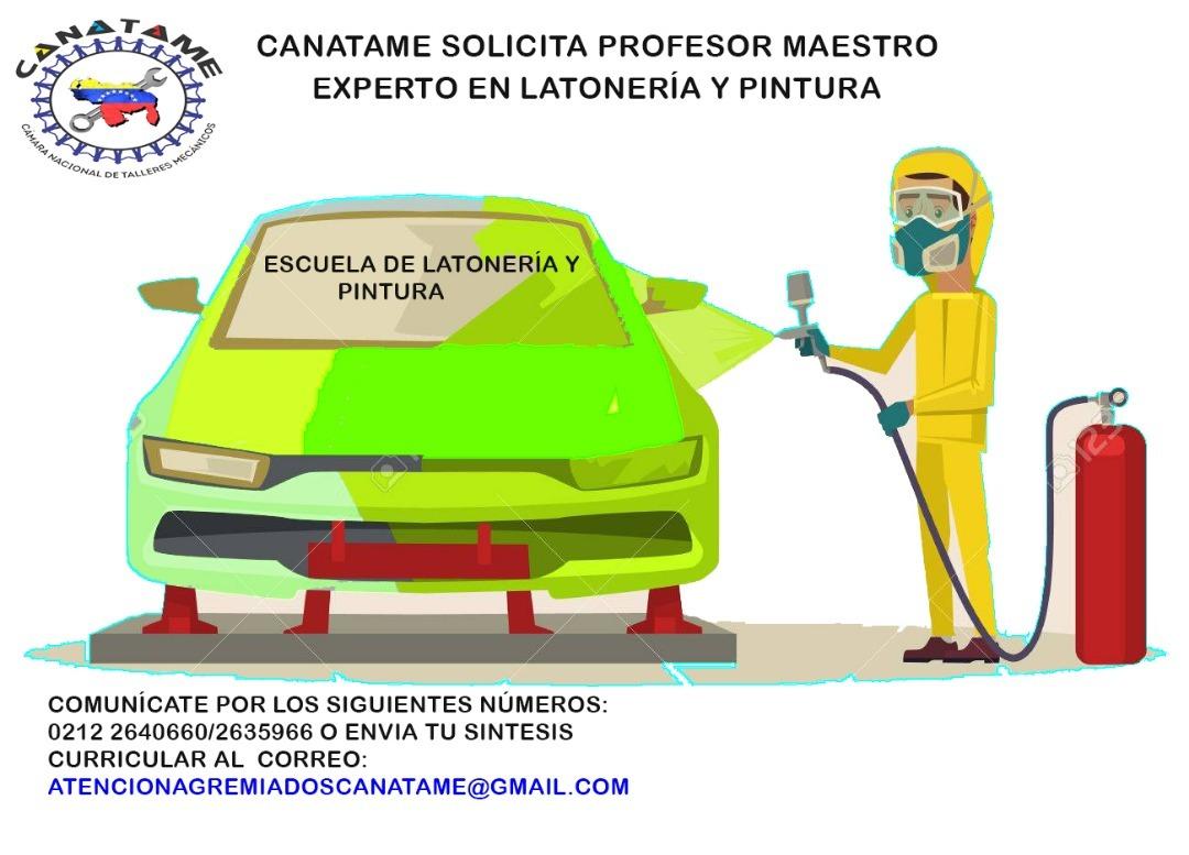 En este momento estás viendo Se solicita instructor para Cursos de Latonería y Pintura.
