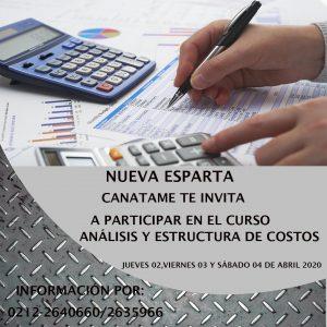 Curso Análisis y Estructura de Costos para Talleres y Aspectos Legales.