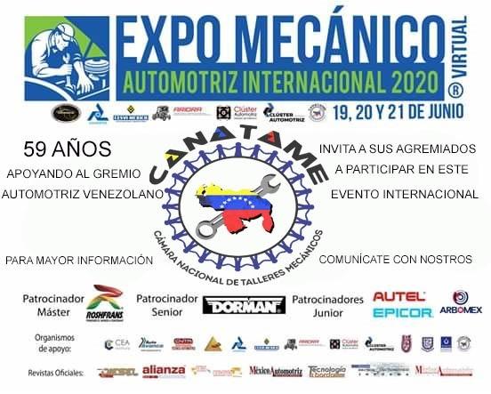 En este momento estás viendo CANATAME PRESENTE EN LA EXPO MECÁNICA VIRTUAL EN MÉXICO