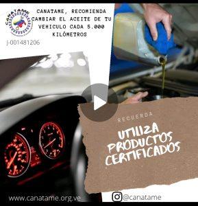 CANATIP (1) CAMBIO DE ACEITE AL VEHÍCULO