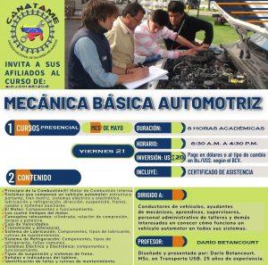 Lee más sobre el artículo CURSO MECÁNICA BÁSICA AUTOMOTRIZ