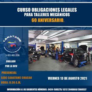 Lee más sobre el artículo CURSO OBLIGACIONES LEGALES PARA TALLERES MECÁNICOS