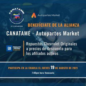 Lee más sobre el artículo CHARLA ALIANZA CANATAME AUTOPARTES MARKET, C.A.